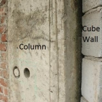 Aristo Parel of column and Cube Wall
